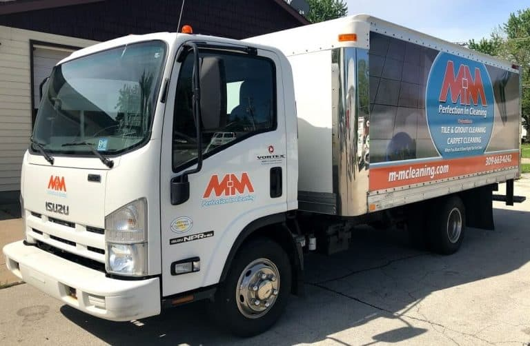 M-M Carpet Cleaning Truck